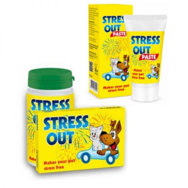 STRESS OUT Natural Calming Tablets/ Paste for Dogs & Cats