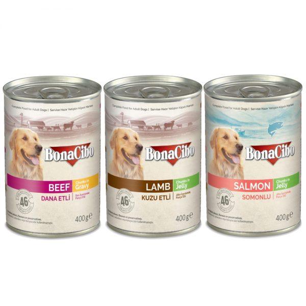 BonaCibo Adult Dog Wet Food 400g cans