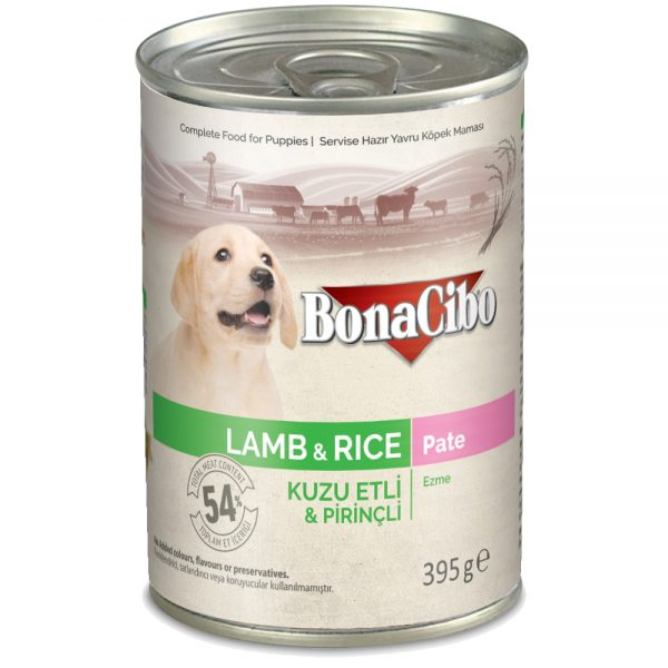 BonaCibo Puppy Lamb & Rice Pate Wet Food