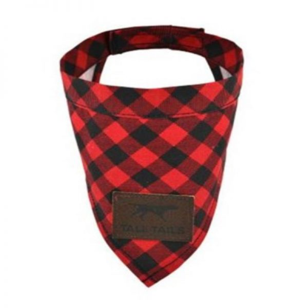 Red Plaid Dog Bandanna from Tall Tails